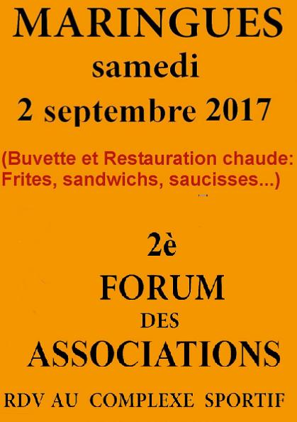 Forum des associations samedi 2 septembre 2017