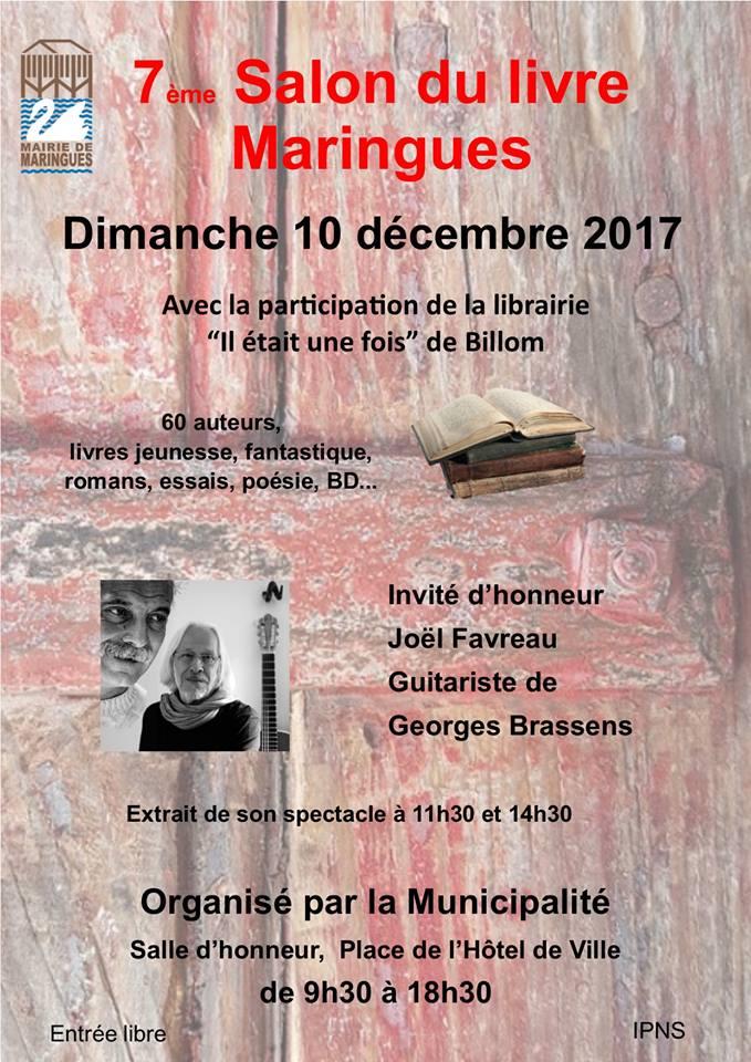7 ème Salon du livre à Maringues dimanche 10 décembre 2017