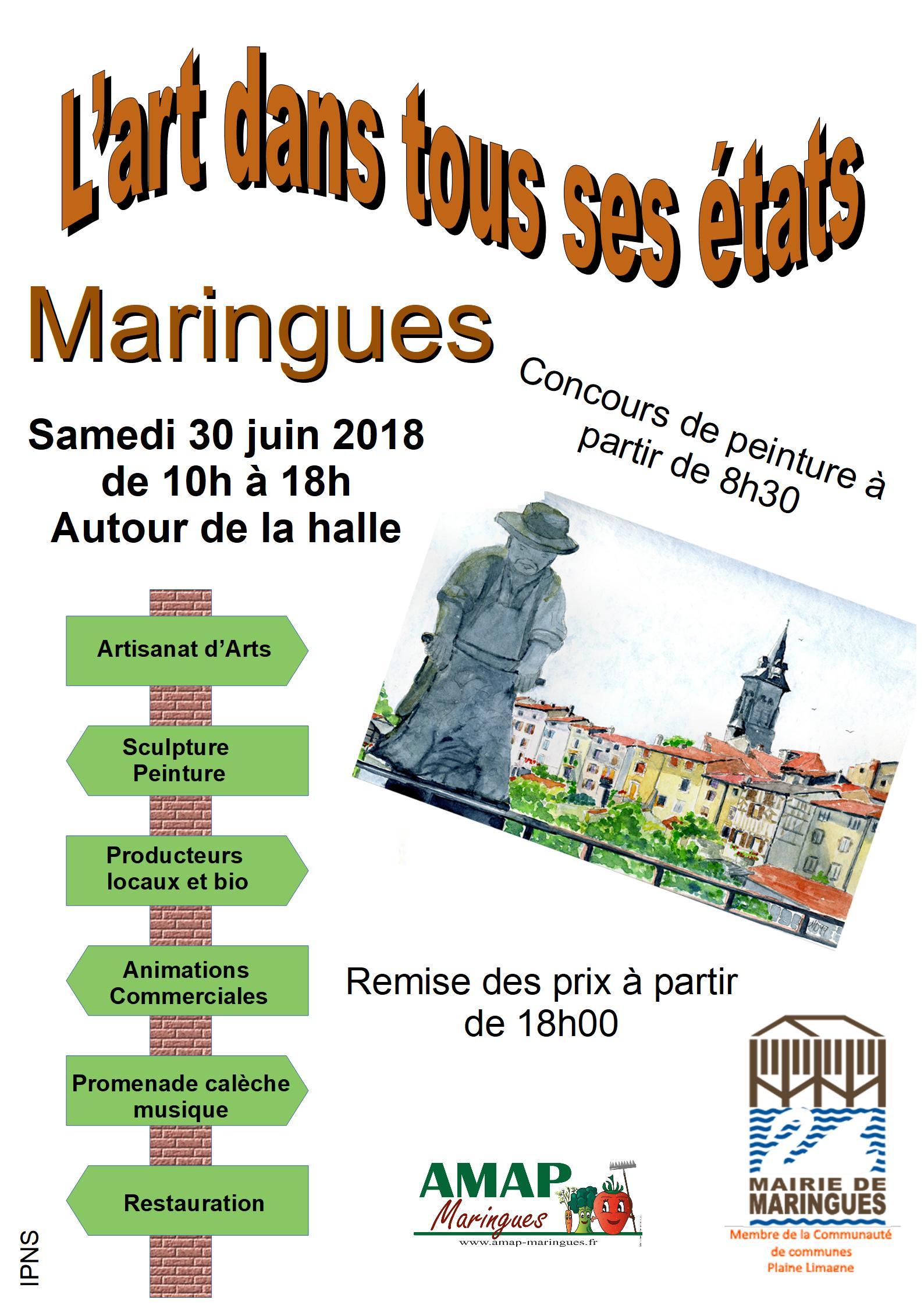 L'art dans tous ses états c'est le 30 juin 2018 à Maringues