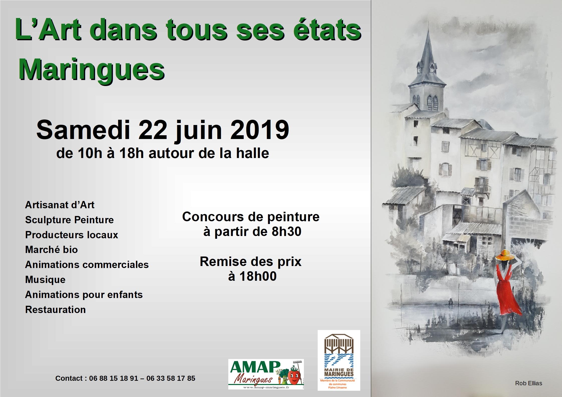 L'art dans tous ses états 22 juin 2019 à Maringues
